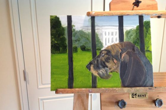 george w bush dog paintings contain multitudes nymag