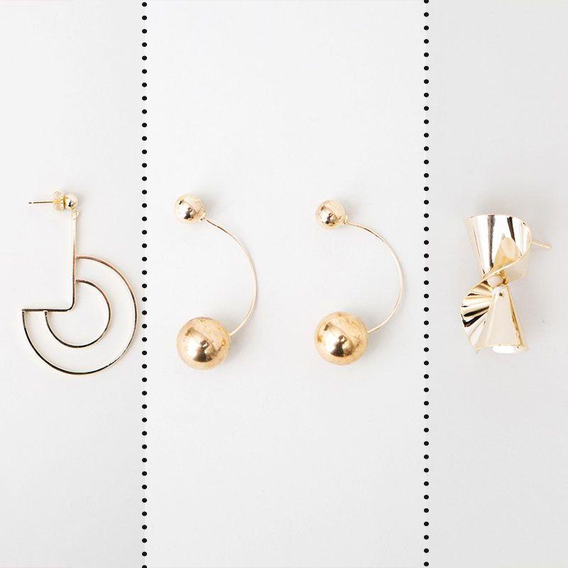 TFJ Women Fashion Jewelry Earrings Set Rose Gold Metal Chain Links 5 Long Strands Necklace Bolky Statement