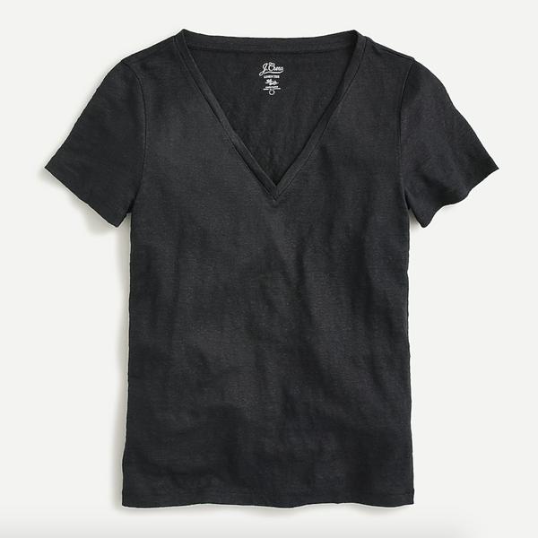 J.Crew Linen V-necked T-shirt