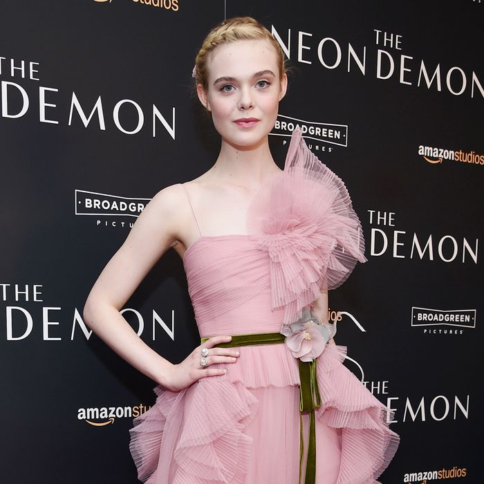 Elle Fanning at the <i>Neon Demon</i> premiere.