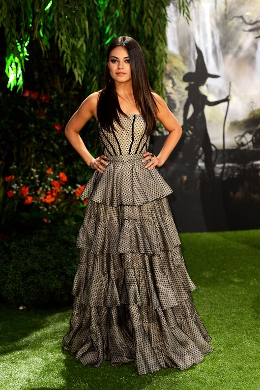Actress Mila Kunis attends the UK film premiere of  Oz: The Great and Powerful at the Empire Leicester Square on February 28, 2013 in London, England.