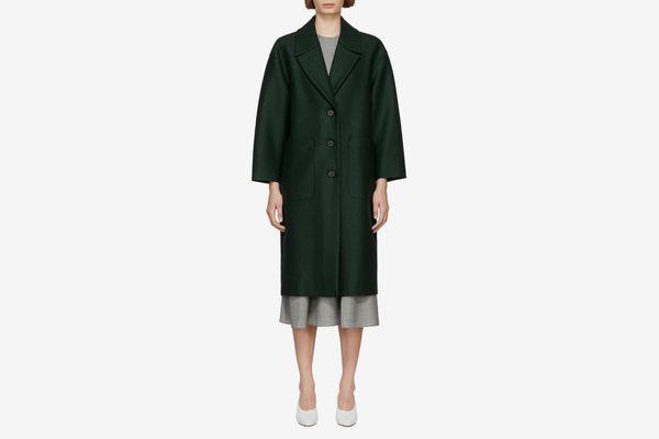 Harris Wharf London Green Oversized Coat