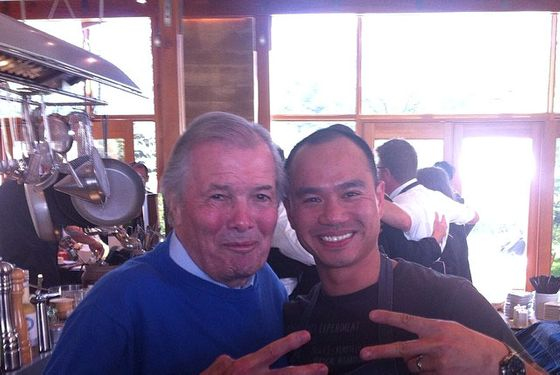 here's a just delightful shot of jacques pépin