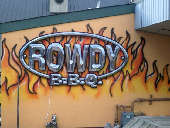 "<a href=""http://www.rowdybbq.com/"">Rowdy BBQ</a> <br><i>3900 Saw Mill Run Blvd.; 412-882-6788</i> <br>Nothing gets Pittsburgh's sports fans and college students fired up quite like the glorious burger-meets-hot-dog mash-up, better known as the Knuckle Sandwich, at Rowdy BBQ. The Buffalo pulled chicken sandwich and the Whole Hog, a pulled-pork hoagie, are also popular. But for a proper barbecue fix, locals recommend the smoky and fall-off-the-bone tender pork ribs. <br>"