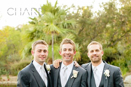 Paul Walker is best man at his brother Caleb's wedding just six weeks before his death.