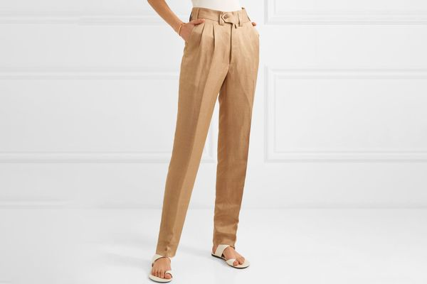 Arjé Sabi Linen and Twill Slim Leg Pants