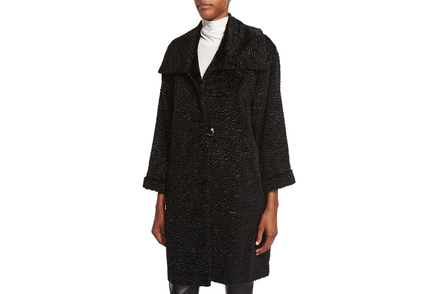 Caroline Rose Playful Persian Faux Fur Coat