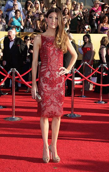 Celebrities arriving at the Screen Actors Guild Awards 2012 held at the Shrine Auditorium in Los Angeles, CA. <P> Pictured: Jennifer Carpenter <P><B>Ref: SPL355291  290112  </B><BR/> Picture by: Nate Beckett / Splash News<BR/> </P><P> <B>Splash News and Pictures</B><BR/> Los Angeles:310-821-2666<BR/> New York:212-619-2666<BR/> London:870-934-2666<BR/> photodesk@splashnews.com<BR/> </P>