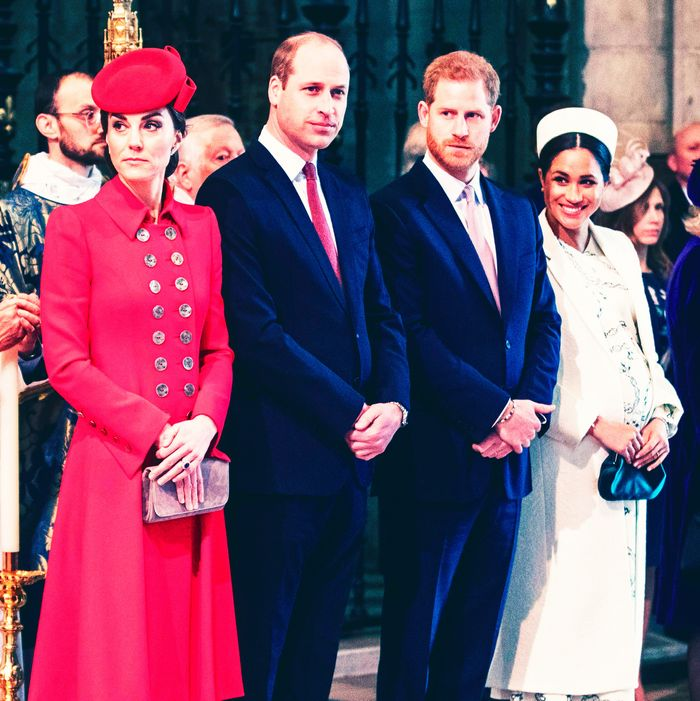 Kate Middleton, Prince William, Prince Harry, and Meghan Markle.