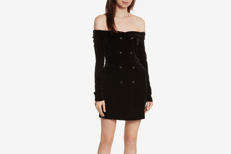 L'Agence Velvet Jacket Dress
