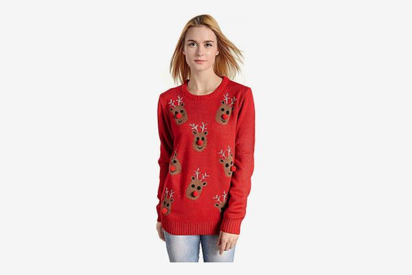 v28 Women's Christmas Reindeer Sweater