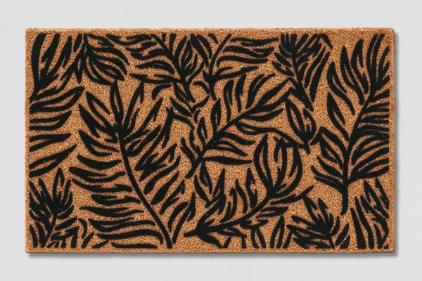 Target Black Leaf Doormat