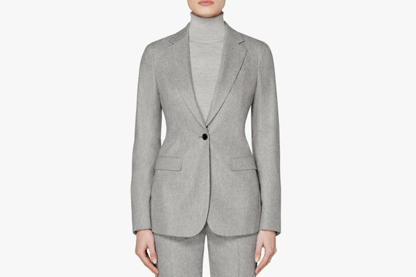 Suistudio Cameron Single Breasted Wool Blazer