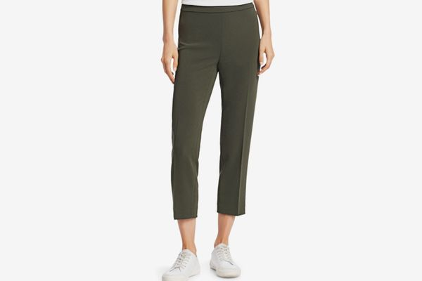 Theory Crepe Basic Pull-On Cropped Pants
