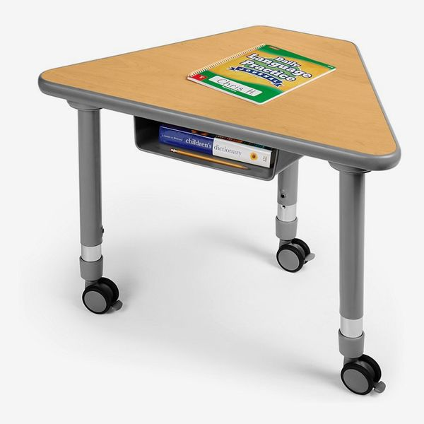 Flex-Space Mobile Wedge Student Desk with Book Box