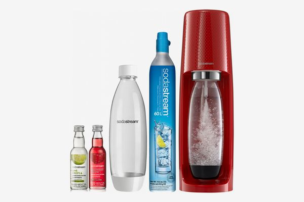 SodaStream Fizzi Red Sparkling Water Maker Bundle