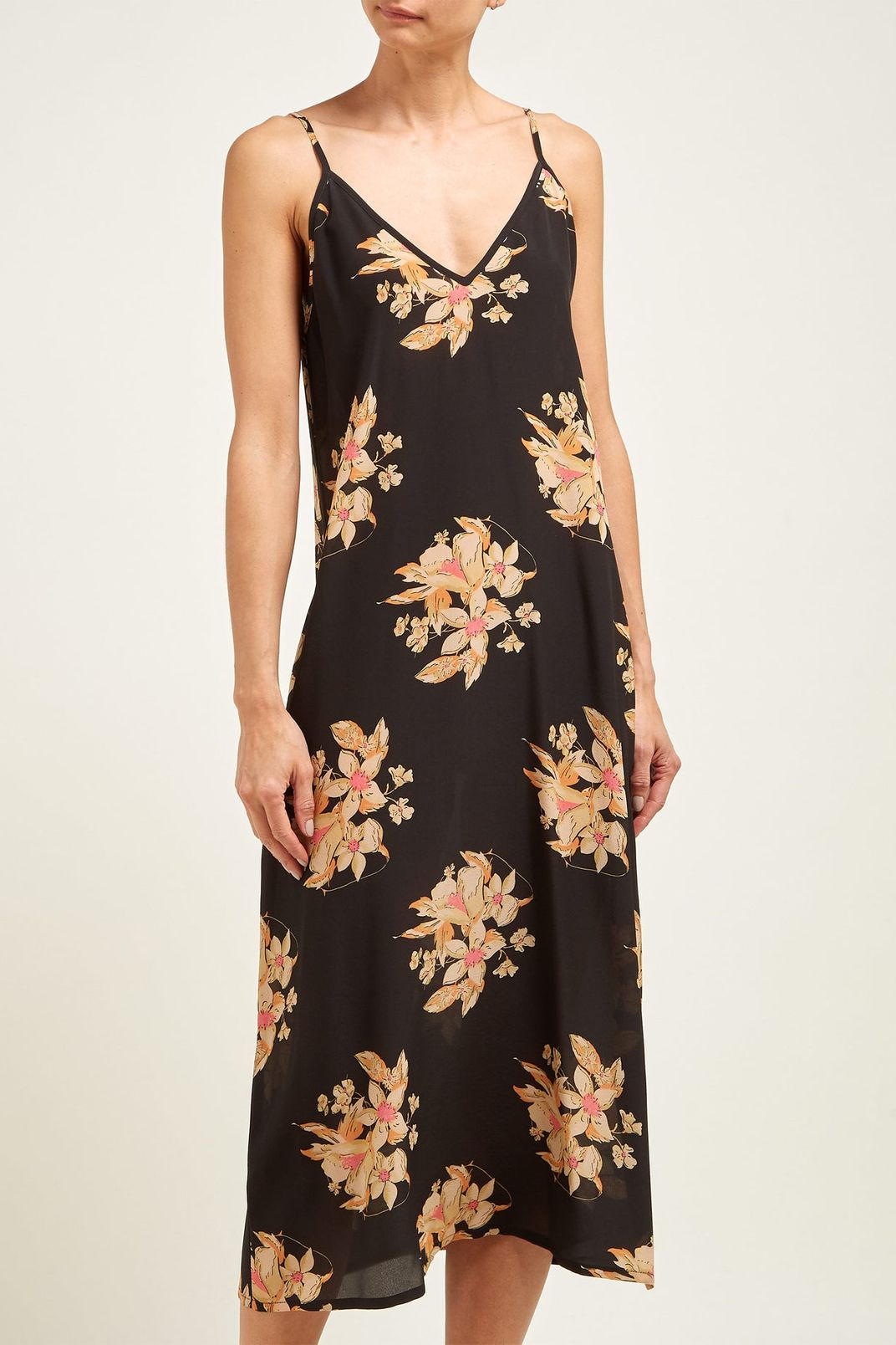 Raey Vintage Floral-Print Silk Slip Dress