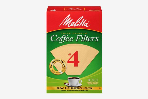 Melitta 100-Count Number 4 Natural Brown Super Premium Coffee Filters