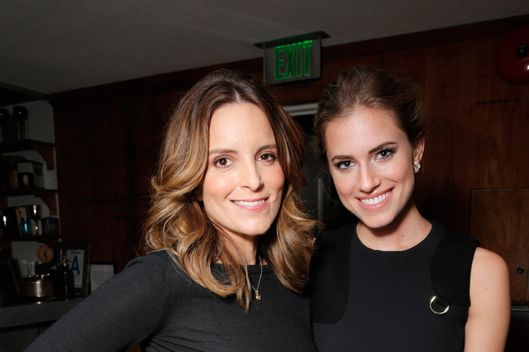 From left, Tina Fey and Allison Williams attend The Hollywood Reporter celebration of the Emmy nominees and new fall TV season presented by Samsung Galaxy, Asos, Porsche, Pandora and Ketel One, on Thursday, Sept. 19, 2013, at Soho House in West Hollywood, Calif. (Photo by Todd Williamson/Invision for THR/AP Images)