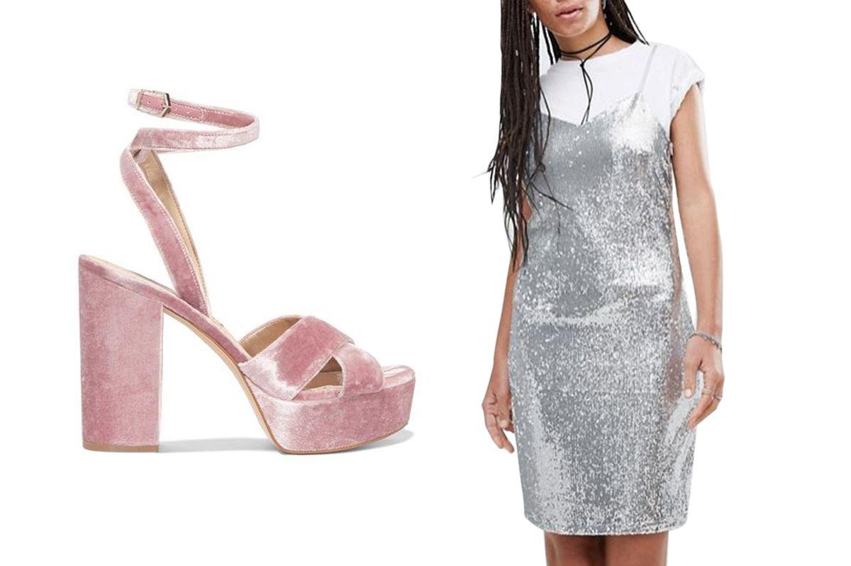 Noisy May Lola Sequined Slip Dress