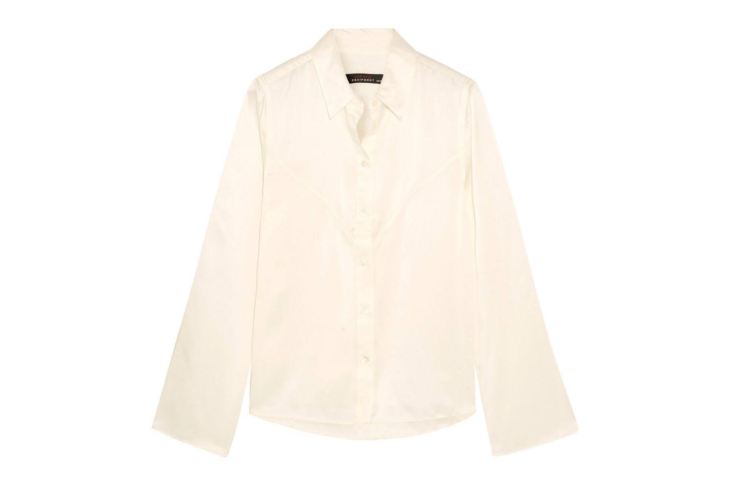 Kate Moss for Equipment Selah Silk-Satin Shirt