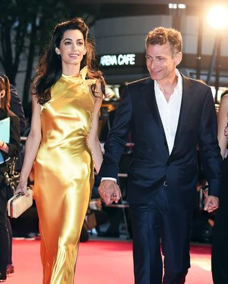 Amal Clooney and her brother, Samer Alamuddin.