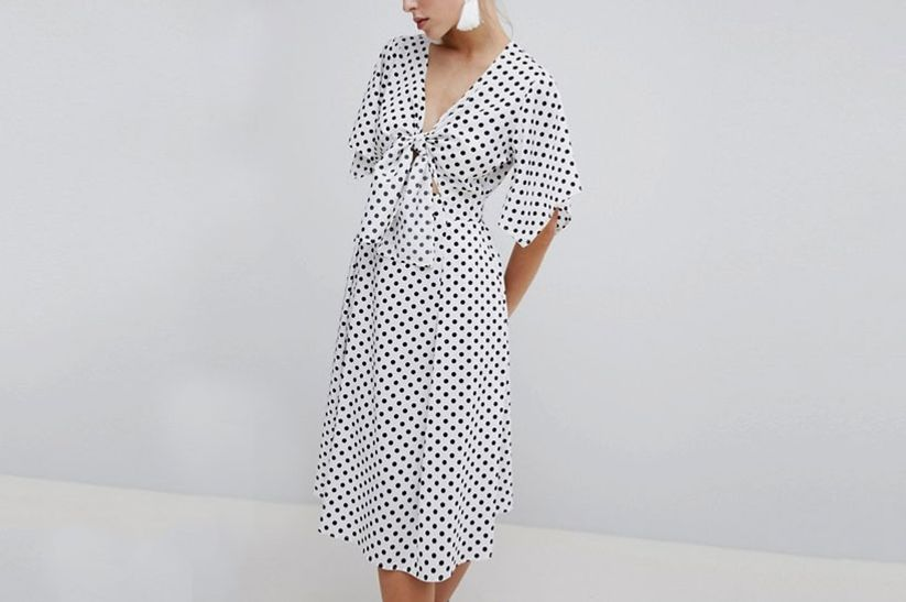 ASOS Polka Dot Midi Dress