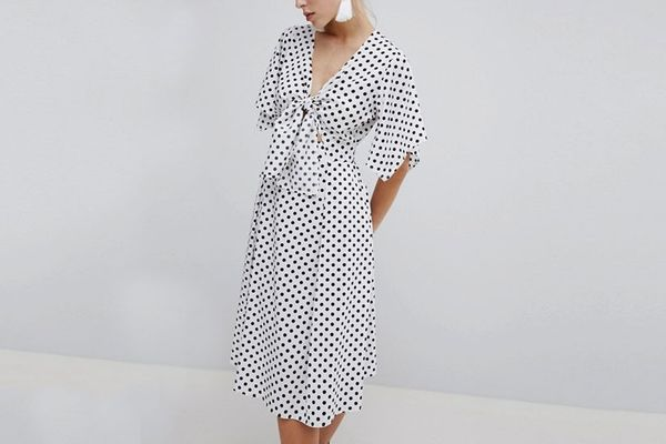 ASOS Polka Dot Midi Dress
