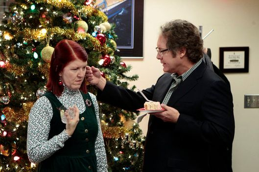 "THE OFFICE -- ""Christmas Wishes"" Episode 810 -- Pictured: Kate Flannery as Meredith Palmer."