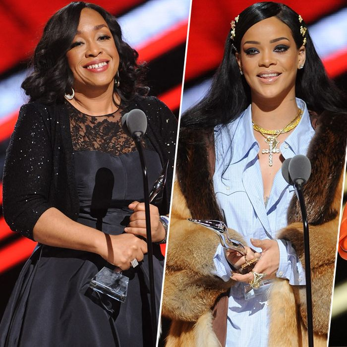 Shonda Rhimes, Rihanna, and Amandla Stenberg at Black Girls Rock