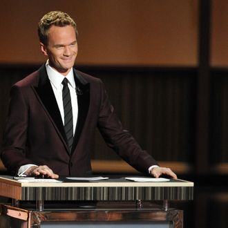 LOS ANGELES, CA - SEPTEMBER 22: Host Neil Patrick Harris onstage during the 65th Annual Primetime Emmy Awards held at Nokia Theatre L.A. Live on September 22, 2013 in Los Angeles, California. (Photo by Kevin Winter/Getty Images)