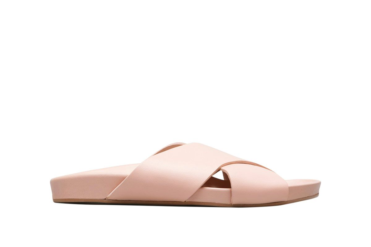Everlane Pale Rose Form Cross Sandals