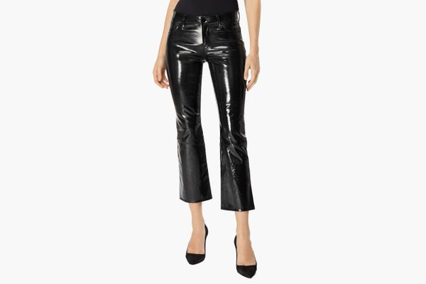 Selena Stretch Patent Leather Cropped Pants