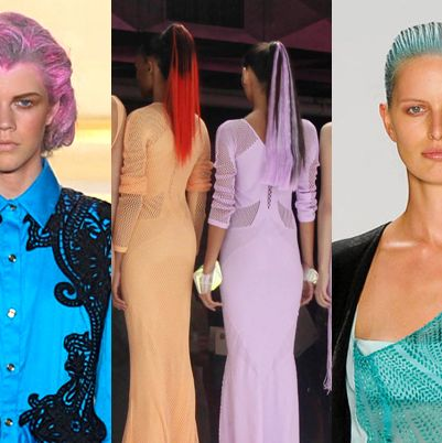 From left: spring looks from Thakoon, Faster by Mark Fast, Narciso Rodriguez.