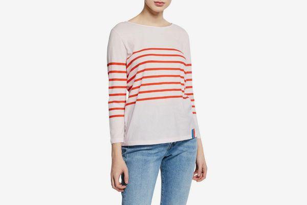 Kule The Malibu Striped Bracelet-Sleeve T-Shirt