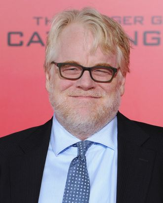 LOS ANGELES, CA - NOVEMBER 18: Actor Philip Seymour Hoffman arrives at the Los Angeles Premiere