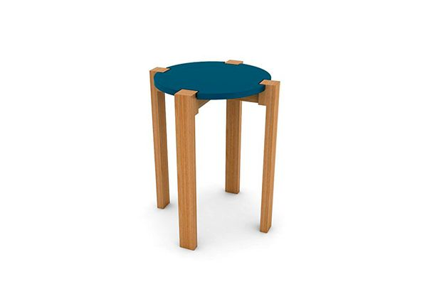 Dar Living Retro Wood Stool