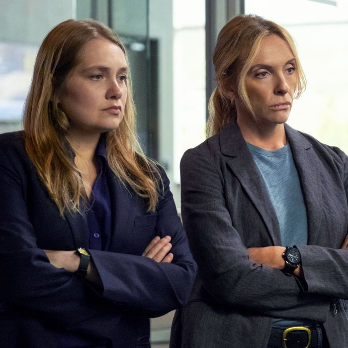 Merritt Wever and Toni Collette in Unbelievable.