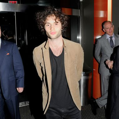 "Penn Badgley== The Cinema Society & Calvin Klein Collection host a screening of ""The Hunger Games""== SVA Theater, NYC== March 20, 2012== ?Patrick McMullan== Photo - Nicholas Hunt / PatrickMcMullan.com== =="