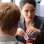 Todd (Jesse Plemons) and Lydia (Laura Fraser) - Breaking Bad _ Season 5, Episode 16 - Photo Credit: Ursula Coyote/AMC