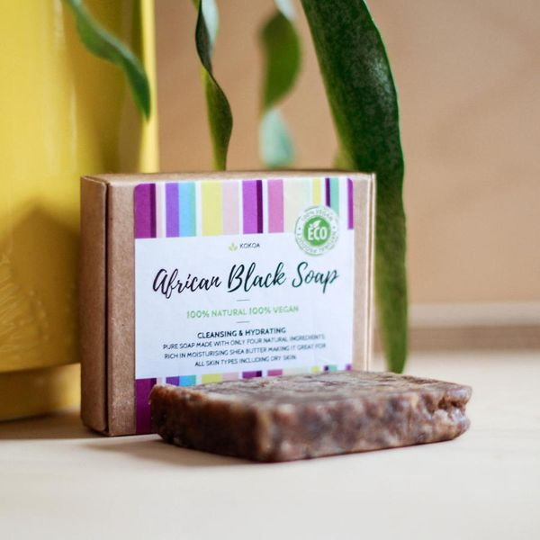 Kokoa Raw Traditional African Black Soap