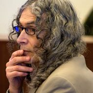 Serial murder suspect Rodney Alcala listens to Orange County deputy district attorney, Matt Murphy's final arguments during closing arguments in Santa Ana, Calif.,  Monday, Feb. 22, 2010.