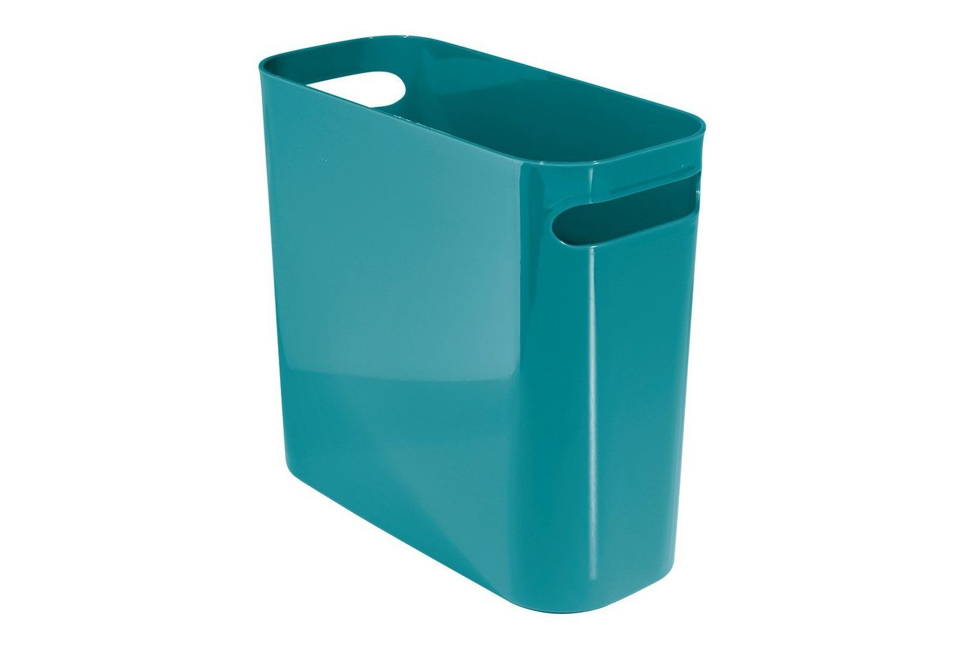 InterDesign Una Wastebasket Trash Can — 10 Inch, Teal