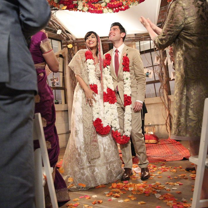 NEW GIRL: L-R: Hannah Simone and Max Greenfield in the season finale