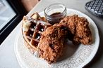 Nothing wrong with chicken and waffles.