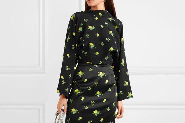 Bernadette Norma floral-print silk crepe de chine blouse