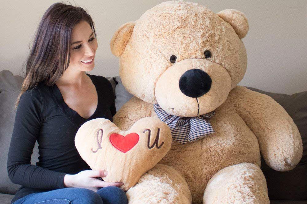 Yesbears - Ultra-Soft Giant Teddy Bear, 5 Feet Tall, Tan (Pillow Included)