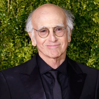 Actor and writer Larry David arrives for the American Theatre Wing's 69th Annual Tony Awards at the Radio City Music Hall in Manhattan
