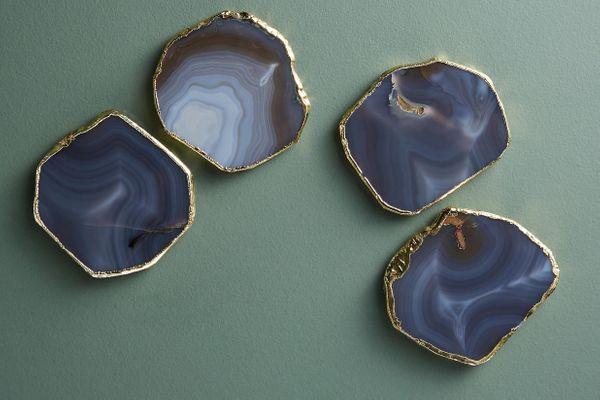 Precious Agate Coaster Set