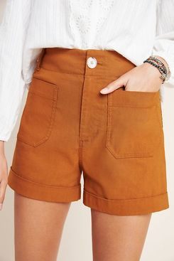 Anthropologie Megan Patch Pocket Shorts